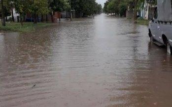 Coronda quedó bajo agua