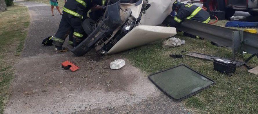 Automóvil perdió el control y el conductor resultó lesionado en Santa Fe