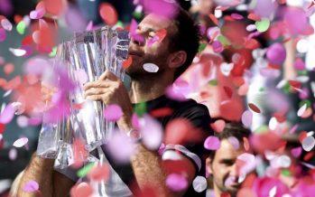 Del Potro se consagró campeón de Indian Wells al vencer a Federer