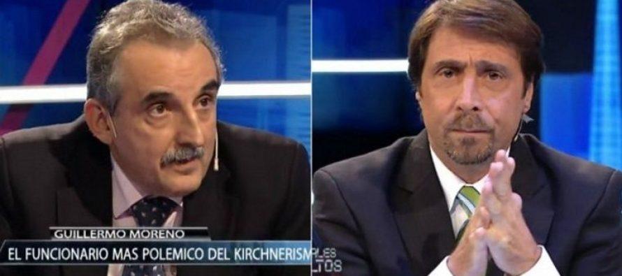 Moreno desafió a pelear a Eduardo Feinmann en TV