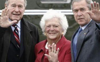 Murió Barbara Bush, esposa y madre de dos presidentes de Estados Unidos
