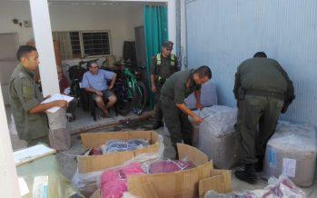 Secuestran indumentaria llevada sin documentación en el peaje de Videla
