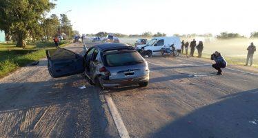 Tres heridos tras un fuerte choque sobre Ruta 11