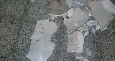 Lamentable: vandalizaron los baños públicos de la plaza cívica