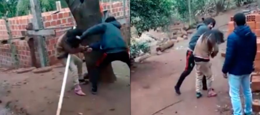 Violencia de género: Graban el momento en el que un hombre le da una brutal golpiza a su mujer en Oberá