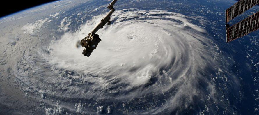 VIDEO: El ojo del huracán Florence se muestra en increíbles imágenes tomadas desde un avión